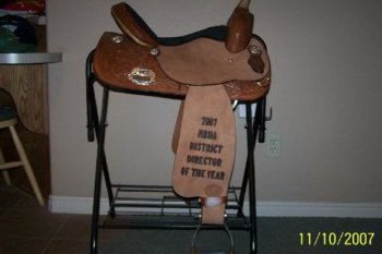 Saddle Presented To Janie From NBHA